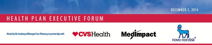 Health Plan Executive Forum Banner Graphic with Sponsors